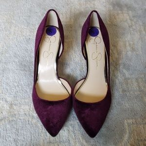 Jessica Simpson Shoes - MOVING SALE!!! NWT Jessica Simpson velvet heels